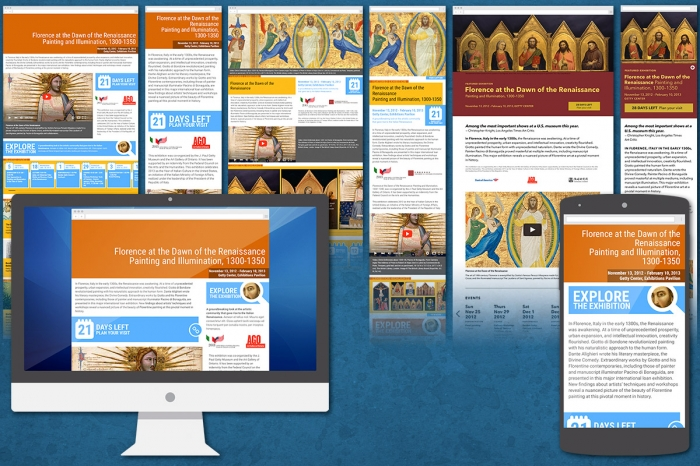 The Getty Center: UI / UX Responsive Web Design