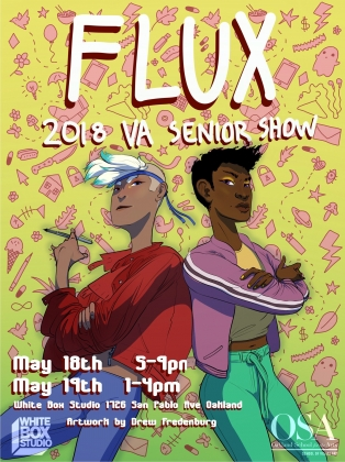 Flux senior show (Illustration and graphics by me)